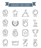 Awards Line Icons. Medals and awards line icons Stock Photo