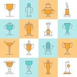 Awards Line Icons Set Royalty Free Stock Photos
