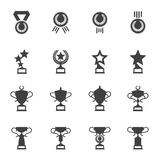 Awards, medals and cups icons Stock Photography