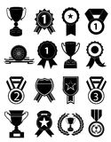 Awards medals icons set Stock Images