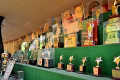 Awards for Pandals, temporary temples dedicated to Stock Photos