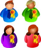 Awards people Royalty Free Stock Photo