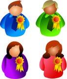 Awards people royalty free illustration