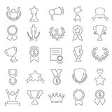 Awards and prizes line icons set for web and mobile design. Awards and prizes line icons set Stock Photography