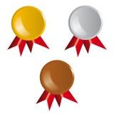 Awards, ribbons Stock Image