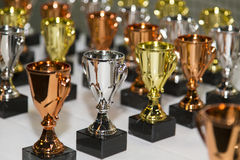 Awards. Some awards on a table Royalty Free Stock Photo