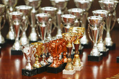 Awards. Some awards on a table Royalty Free Stock Images