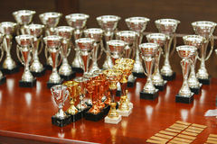 Awards. Some awards on a table Stock Photography