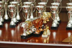 Awards. Some awards on a table Royalty Free Stock Photography