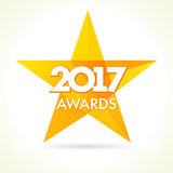 2017 awards star logo Stock Images