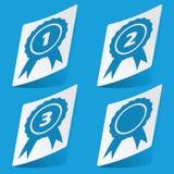 Awards sticker set Royalty Free Stock Image