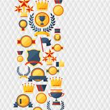 Awards and trophies  icons background. Royalty Free Stock Photography