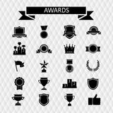 Awards and trophies set of icons. Stock Photos