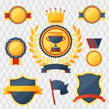 Awards and trophies set of icons. Stock Image