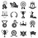 Awards and trophy icons Stock Photo