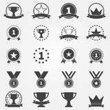 Awards and trophy icons set Royalty Free Stock Photography