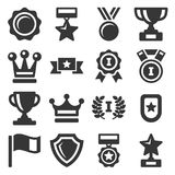 Awards and Trophy Icons Set. Vector Royalty Free Stock Photos