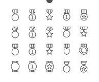 Awards UI Pixel Perfect Well-crafted Vector Thin Line Icons 48x48 Ready for 24x24 Grid for Web Graphics and Apps with. Editable Stroke. Simple Minimal Pictogram Royalty Free Stock Photo