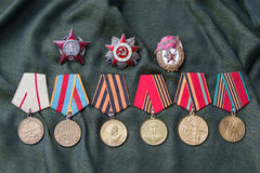 Awards of USSR Stock Images