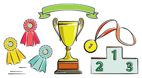 Awards (Vector) Royalty Free Stock Image