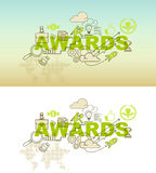 Awards website banner concept with thin line flat design. Vector illustration eps-10 Stock Image