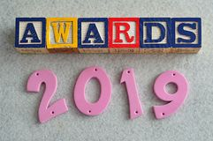 Awards 2019. On a white background Stock Images