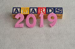 Awards 2019. On a white background Stock Image