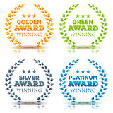 Awards Winning And Laurel Leaves Set Stock Image