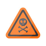 Aware sign  flat icon Stock Image