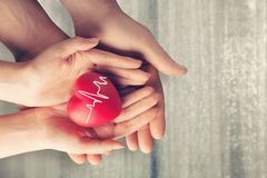 Awareness. Background cardiogram care charity children concept Stock Photo