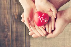 Awareness. Background cardiogram care charity children concept Royalty Free Stock Images