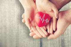 Awareness. Background cardiogram care charity children concept Royalty Free Stock Photos