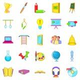 Awareness icons set, cartoon style Royalty Free Stock Photo