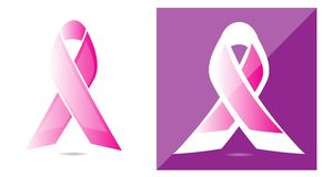 Awareness ribbon for breast cancer Stock Image