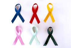 Awareness ribbons Royalty Free Stock Image
