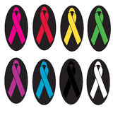 Awareness ribbons Stock Photo