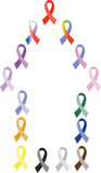 Awareness ribbons Royalty Free Stock Images