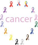 Awareness ribbons Royalty Free Stock Photography