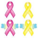Awareness ribbons Royalty Free Stock Image