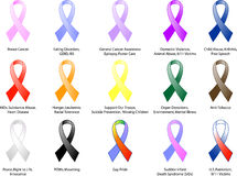 Awareness Ribbons Stock Image
