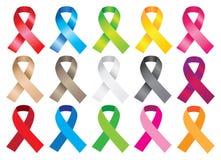 Awareness ribbons Stock Images