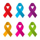 Awareness ribbons Royalty Free Stock Photo