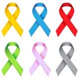 Awareness Ribbons. Isolated on white royalty free illustration