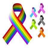 Awareness ribbons. Vector illustration of awareness ribbons Royalty Free Stock Photography