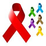 Awareness ribbons. Vector illustration of awareness ribbons Royalty Free Stock Photos