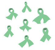 Awareness ribbons of common cancer vector Stock Photos