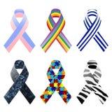 Awareness ribbons pattern Stock Images