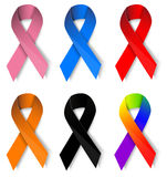 Awareness ribbons Royalty Free Stock Photos