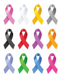 Awareness ribbons. Vector illustration. Royalty Free Stock Image