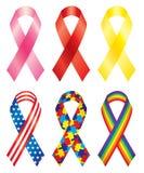 Awareness ribbons Royalty Free Stock Photos